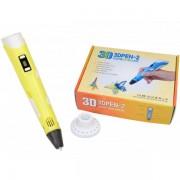 3D ручка PEN-2 UTM c LCD дисплеем и набором пластика Желтая (DM2112)